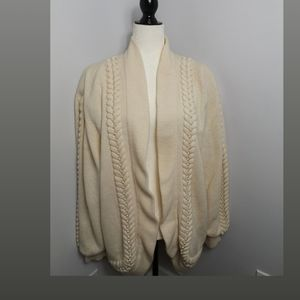 Vintage lambswool cream cardigan with pearls
